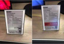 """Pirkėjo užfiksuotas SONY televizoriaus kainų skirtumas prieš ir po akciją privertė """"Topo centrą"""" atsiprašinėti."""